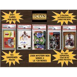 Icon Authentic 250X Mystery Box Series 2 (250+ Cards per Box)