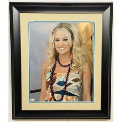 Carrie Underwood Signed 24x29 Custom Framed Photo Display (JSA COA)
