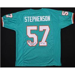 "Dwight Stephenson Signed Miami Dolphins Jersey Inscribed ""HOF 98"" (Radtke COA)"