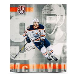 """Connor McDavid Signed Oilers """"Anniversary"""" 20x24 Limited Edition Photo (UDA Hologram)"""