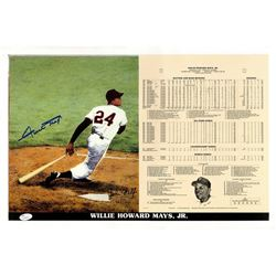Willie Mays Signed San Francisco Giants 14x21 Limited Edition Career Highlight Stat Card (JSA LOA)