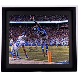 "Odell Beckham Jr. Signed New York Giants ""One-Handed Catch"" 24x28 Custom Framed Limited Edition Phot"