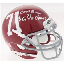 "Herman ""Coach"" Boone Signed  T. C. Williams High School Mini Helmet Inscribed ""State Champs"" (JSA CO"