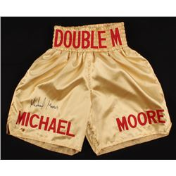 "Michael Moorer Signed ""Double M"" Boxing Shorts (MAB Hologram)"