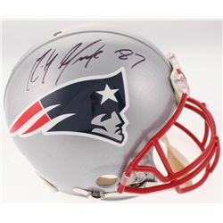 Rob Gronkowski Signed New England Patriots Super Bowl XLIX Full-Size Authentic On-Field Helmet (JSA