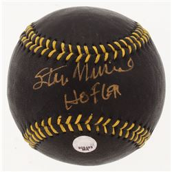 "Stan Musial Signed Black Leather Baseball Inscribed ""HOF 69"" (MLB Hologram)"