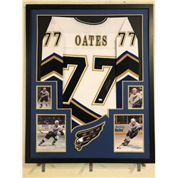 Adam Oates Signed Washington Capitals 34x42 Custom Framed Jersey Display (JSA COA)