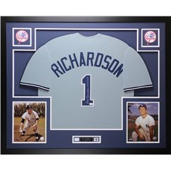Bobby Richardson Signed New York Yankees 35x43 Custom Framed Jersey (JSA COA)