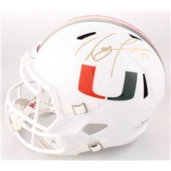 Ray Lewis Signed Miami Hurricanes Full-Size Speed Helmet (JSA COA)