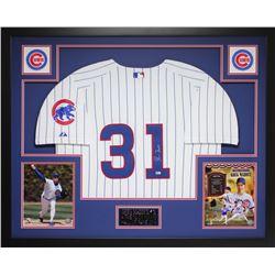 Greg Maddux Signed Chicago Cubs 35x43 Custom Framed Jersey Display (MLB Hologram)