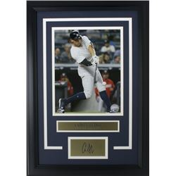 Aaron Judge New York Yankees 11x14 Custom Framed Photo Display with Laser Engraved Autograph