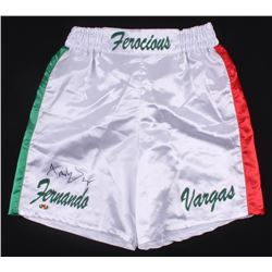 "Fernando Vargas Signed ""Ferocious"" Boxing Shorts (MAB Hologram)"