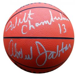 Wilt Chamberlain  Kareem Abdul-Jabar Signed NBA Basketball (Fanatics)
