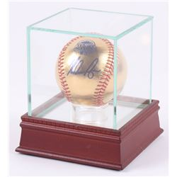 Nolan Ryan Signed 2013 MLB All-Star Game Logo 24KT Gold Baseball with Display Case (PSA COA)