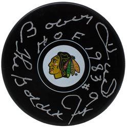 "Bobby Hull Signed Chicago Blackhawks Hockey Puck Inscribed ""HOF 1983""  ""The Golden Jet"" (TriStar Hol"