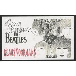 """Klaus Voormann Signed """"The Beatles"""" Index Card (JSA COA)"""