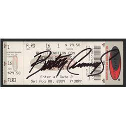 Burton Cummings Signed Used Ticket (JSA COA)