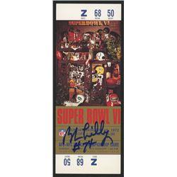Bob Lilly Signed Super Bowl VI Used Ticket (JSA COA)