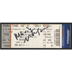 Marilyn Manson Signed Used Ticket Stub (JSA COA)