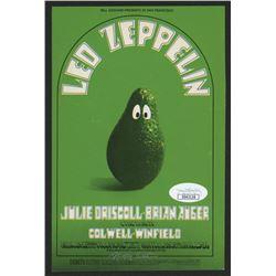 Randy Tuten Signed Led Zeppelin Postcard (JSA COA)