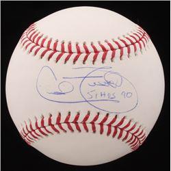 """Cecil Fielder Signed OML Baseball Inscribed """"51 HR's 90"""" (Beckett COA)"""