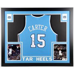 Vince Carter Signed North Carolina Tar Heels 35x43 Custom Framed Jersey (Beckett COA)