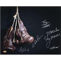 Boxing 16x20 Photo signed by (5) with Tony Tubbs, Ray Mercer, Iran Barkley, Hasim Rahman  Oliver McC