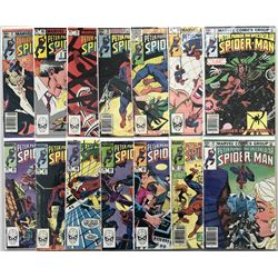 "Lot of (14) 1982-1984 Marvel ""Spectacular Spider-Man"" 1st Series Comic Books"