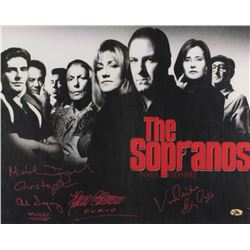 """The Sopranos"" Signed 16x20 Photo Cast-Signed by (4) Including Michael Imperioli, Vincent Pastore, A"