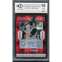 2014 Elite Extra Edition Prospects Signatures #13 Trea Turner / 449 (BCCG 10)