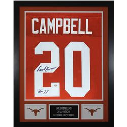Earl Campbell Signed Texas Longhorns 24x30 Custom Framed Jersey (GTSM COA  Campbell Hologram)
