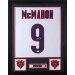 Jim McMahon Signed Chicago Bears 24x30 Custom Framed Jersey (JSA COA)