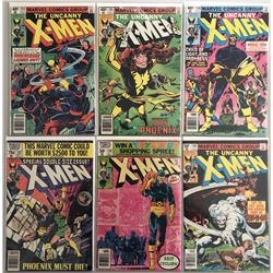 """Lot of (6) 1977-1979 Marvel """"Uncanny X-Men"""" 1st Series Comic Books with #133, #135, #136, #137, #138"""