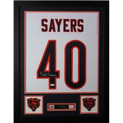 Gale Sayers Signed Chicago Bears 24x30 Custom Framed Jersey (JSA COA)