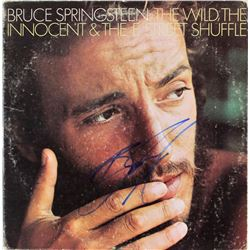 "Bruce Springsteen Signed ""The Wild, the Innocent  the E Street Shuffle"" Vinyl Record Album Cover (JS"