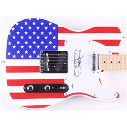 "Joe Walsh Signed Full-Size ""American Flag"" Electric Guitar (PSA COA)"