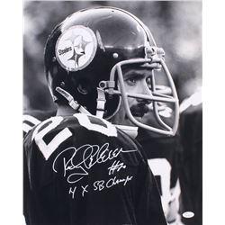 "Rocky Bleier Signed Pittsburgh Steelers 16x20 Photo Inscribed ""4x SB Champ"" (JSA COA)"