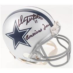 "Danny White Signed Dallas Cowboys Mini Helmet Inscribed ""Americas Team"" (JSA COA)"