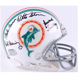 1972 Miami Dolphins Mini-Helmet Signed by (7) with Marv Fleming, Bob Heinz, Marlin Briscoe, Otto Sto