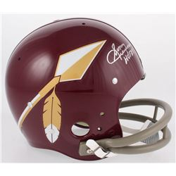 "Sonny Jurgensen Signed Washington Redskins Full-Size Throwback Suspension Helmet Inscribed ""HOF 83"""