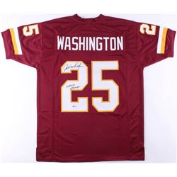 "Joe Washington Signed Washington Redskins Jersey Inscribed ""SB XVII Champs"" (Beckett COA)"