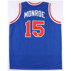 Earl Monroe Signed New York Knicks Jersey (JSA COA)