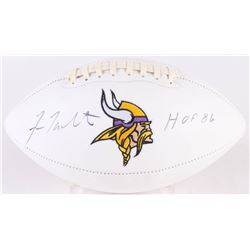"Fran Tarkenton Signed Minnesota Vikings Logo Football Inscribed ""HOF 86"" (JSA COA)"
