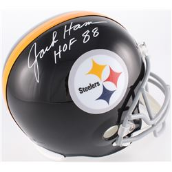 "Jack Ham Signed Pittsburgh Steelers Full-Size Throwback Helmet Inscribed ""HOF 88"" (JSA COA)"