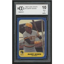 1986 Fleer Update #14 Barry Bonds XRC (BCCG 10)