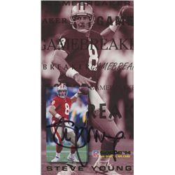 Steve Young Signed 1994 GameDay Gamebreakers #16 (JSA COA)