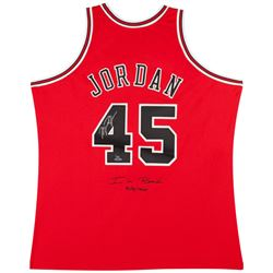 "Michael Jordan Signed LE Chicago Bulls Mitchell  Ness Jerey Inscribed ""I'm Back""  ""3/8/1995"" (UDA CO"