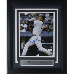 Hideki Matsui Signed New York Yankees 11x14 Custom Framed Photo Display (JSA COA)