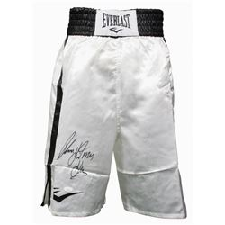 "Thomas ""Hitman"" Hearns Signed Boxing Trunks (JSA COA)"