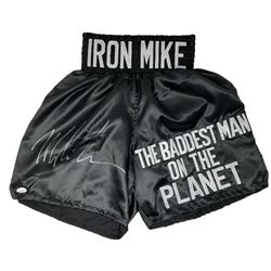 "Mike Tyson Signed ""Iron Mike"" Boxing Trunks (JSA COA)"